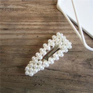 Hårspänne med pärlor silver