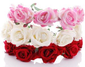 Diadem - Stora rosor till Midsommar
