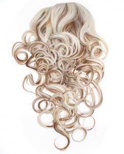 Halvperuk lockig - Slingat blond & brun #27H613