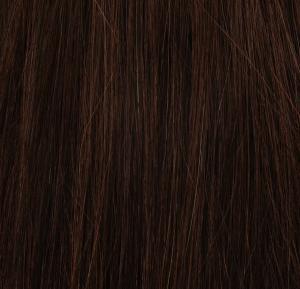 #2 Mörkbrun - Original äkta löshår remy microringar loop