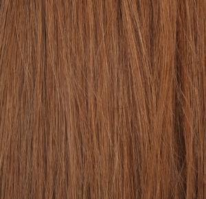 #8 Mellanbrun - Original äkta löshår remy microringar loop