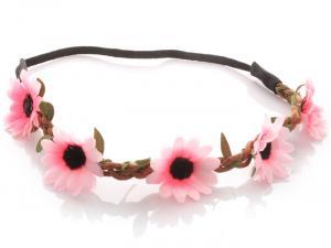 Hårband - Stora blommor ljusrosa till Midsommar