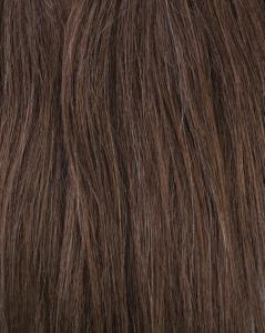 #6 Mörkbrun - Original äkta löshår remy clip-on