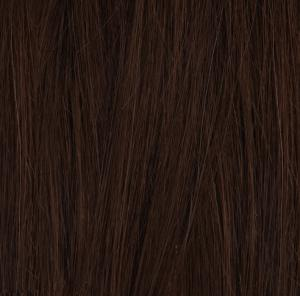#4 Mörkbrun - Original äkta löshår remy clip-on