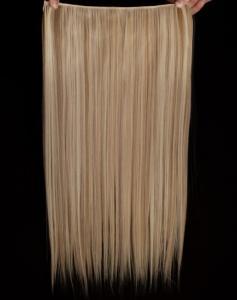 Löshår rakt 5 Clip on - Blond & Ljusbrun #F16/613