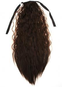 #8A Mörkbrun - Hästsvans vågig rosett