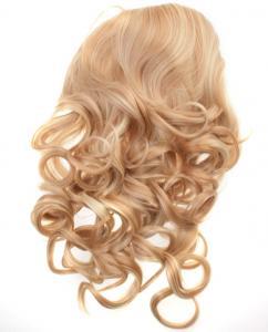 Halvperuk lockig - Blond/Ljusbrun #27H613
