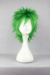 Peruk Fluffigt Grön