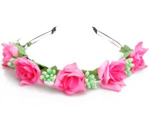 Diadem - Stora rosa rosor