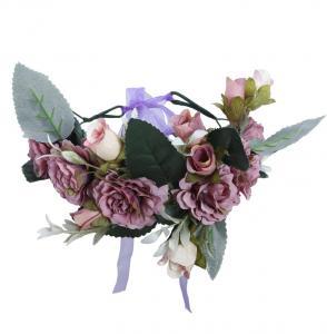 Hårkrans bohemian lila till Midsommar