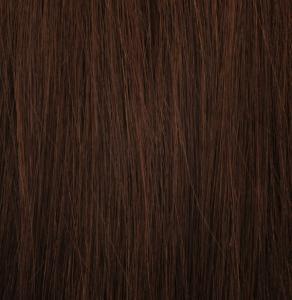 #4 Mörkbrun - Original äkta löshår remy microringar loop