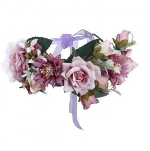 Bohemisk krans lila till Midsommar