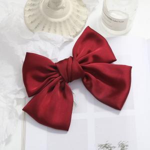 Hårklämma rosett - Röd