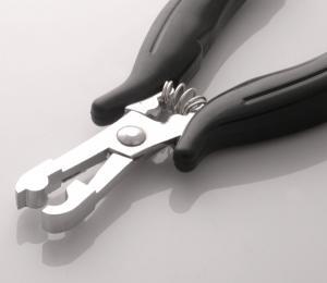 Rundad tång för isättning av microringar - Svart