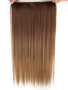 Löshår rakt 5 Clip on dip dye - Brun & Blond #30PT24