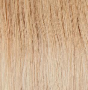 #20T60 Jordgubbsblond & Blond - Classic Dip Dye äkta löshår remy clip-on