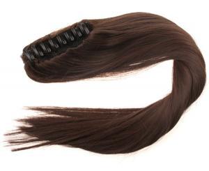 #8 Mörkbrun - Hästsvans rak med klämma