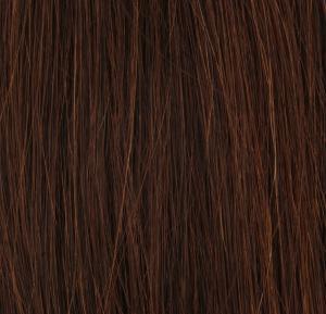 #4 Mörkbrun - Original äkta löshår remy nagelslingor