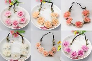 Hårband - fluffiga blommor