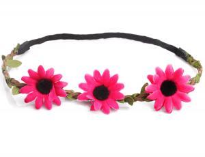 Hårband - Stora rosa blommor till Midsommar