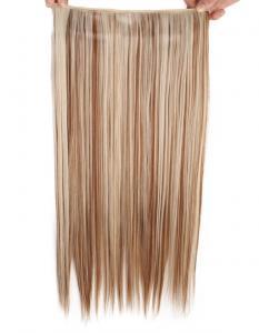 Löshår rakt 5 Clip on - Slingat blond & brun #F12/613