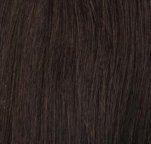 #2 Mörkbrun - Original äkta löshår remy clip-on