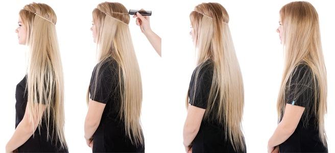 Hårförlängning äkta hår