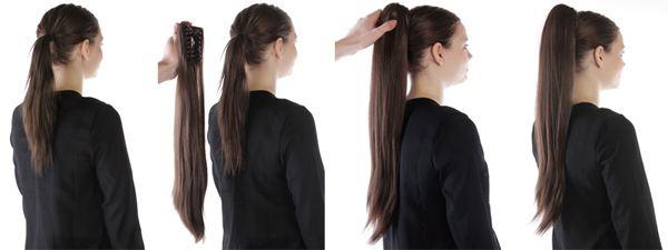 löshår ponytail äkta hår